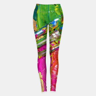 Thumbnail image of Paint Brush Colourful Art Design Leggings, Live Heroes