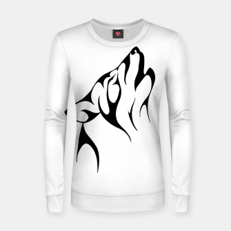 Thumbnail image of Tribal Wolve   Wolf Tattoo Design Woman cotton sweater, Live Heroes