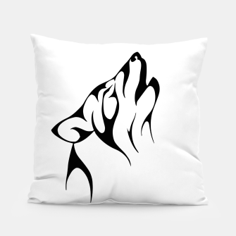 Thumbnail image of Tribal Wolve | Wolf Tattoo Design Pillow, Live Heroes