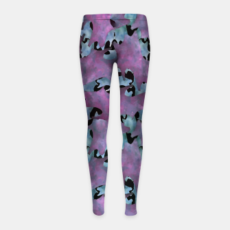 Thumbnail image of Modern Abstract Texture Pattern Girl's leggings, Live Heroes