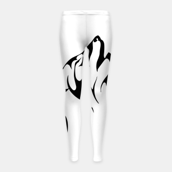 Thumbnail image of Tribal Wolve | Wolf Tattoo Design Girl's leggings, Live Heroes