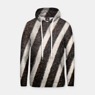 Thumbnail image of Zebra Stripe Fur Design Cotton hoodie, Live Heroes