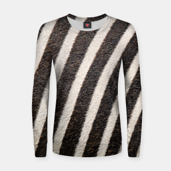 Thumbnail image of Zebra Stripe Fur Design Woman cotton sweater, Live Heroes