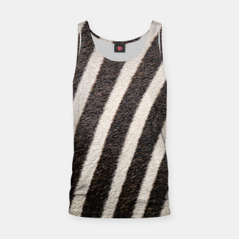 Thumbnail image of Zebra Stripe Fur Design Tank Top, Live Heroes