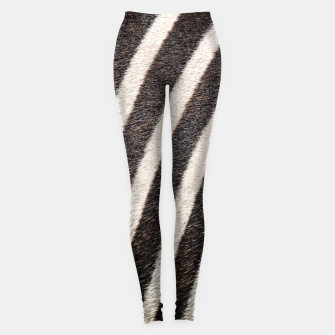 Thumbnail image of Zebra Stripe Fur Design Leggings, Live Heroes