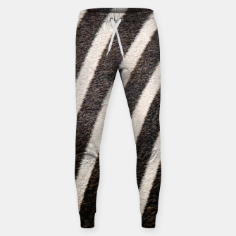 Thumbnail image of Zebra Stripe Fur Design Cotton sweatpants, Live Heroes