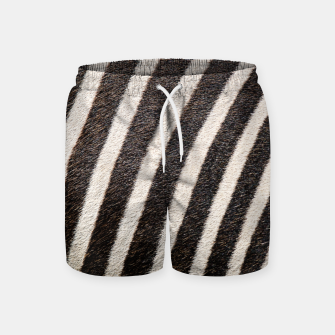 Thumbnail image of Zebra Stripe Fur Design Swim Shorts, Live Heroes