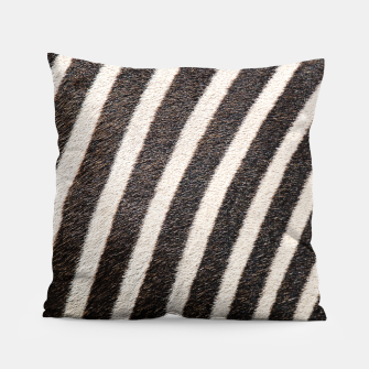 Thumbnail image of Zebra Stripe Fur Design Pillow, Live Heroes