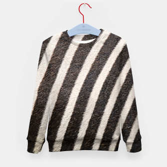 Thumbnail image of Zebra Stripe Fur Design Kid's sweater, Live Heroes