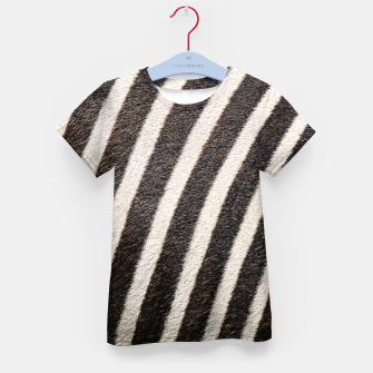 Thumbnail image of Zebra Stripe Fur Design Kid's t-shirt, Live Heroes