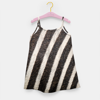 Thumbnail image of Zebra Stripe Fur Design Girl's dress, Live Heroes