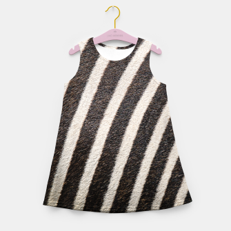 Thumbnail image of Zebra Stripe Fur Design Girl's summer dress, Live Heroes