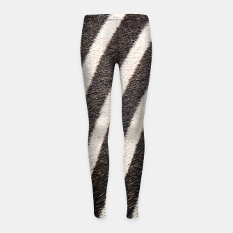 Thumbnail image of Zebra Stripe Fur Design Girl's leggings, Live Heroes