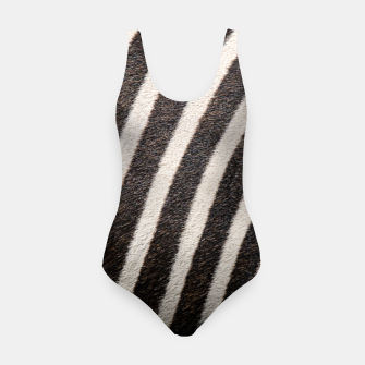 Thumbnail image of Zebra Stripe Fur Design Swimsuit, Live Heroes