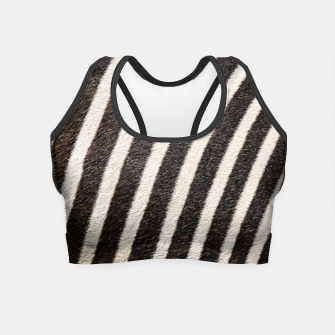 Thumbnail image of Zebra Stripe Fur Design Crop Top, Live Heroes
