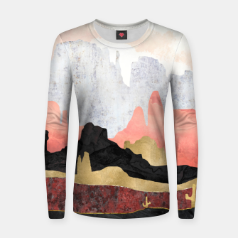 Thumbnail image of Distant Desert Woman cotton sweater, Live Heroes