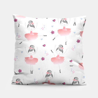 Thumbnail image of Little Dancing Ballerinas Pattern Pillow, Live Heroes