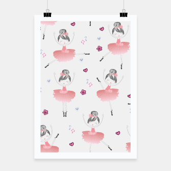 Thumbnail image of Little Dancing Ballerinas Pattern Poster, Live Heroes