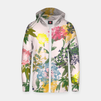 Thumbnail image of Vivacious  Cotton zip up hoodie, Live Heroes