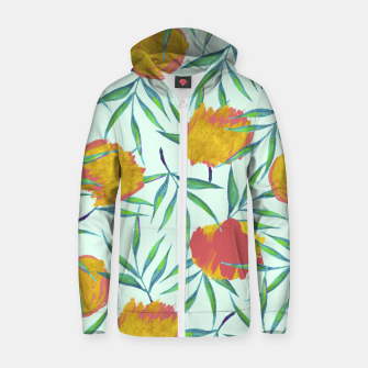 Thumbnail image of Floraison Cotton zip up hoodie, Live Heroes