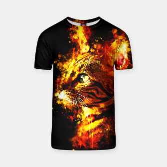 Miniatur gxp bengal cat yearns for freedom splatter watercolor T-shirt, Live Heroes