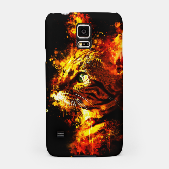 Miniatur gxp bengal cat yearns for freedom splatter watercolor Samsung Case, Live Heroes