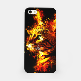 Miniatur gxp bengal cat yearns for freedom splatter watercolor iPhone Case, Live Heroes