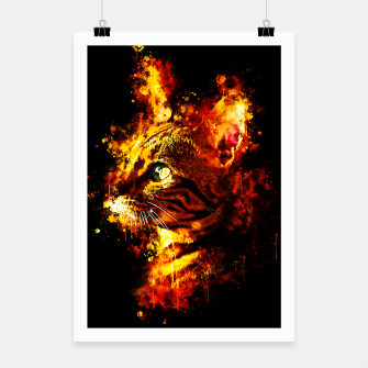 Miniatur gxp bengal cat yearns for freedom splatter watercolor Poster, Live Heroes