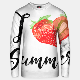 I love Summer Strawberry Cotton sweater obraz miniatury