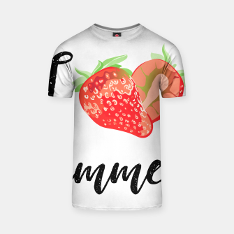 I love Summer Strawberry T-shirt obraz miniatury