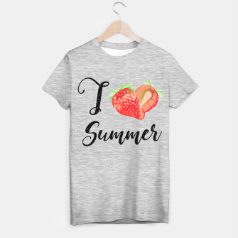 I love Summer Strawberry T-shirt regular obraz miniatury