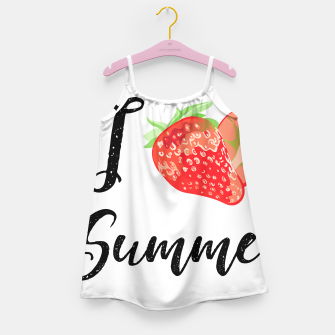 I love Summer Strawberry Girl's dress obraz miniatury
