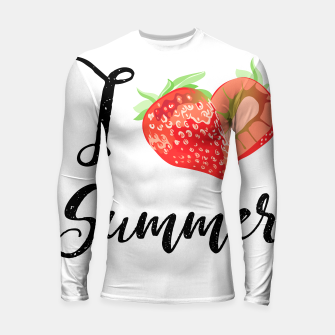 I love Summer Strawberry Longsleeve rashguard  obraz miniatury