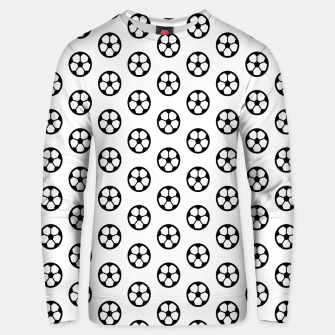 Thumbnail image of Simple Soccer Ball Motif Pattern Cotton sweater, Live Heroes