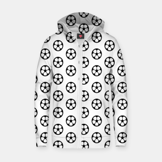 Thumbnail image of Simple Soccer Ball Motif Pattern Cotton zip up hoodie, Live Heroes