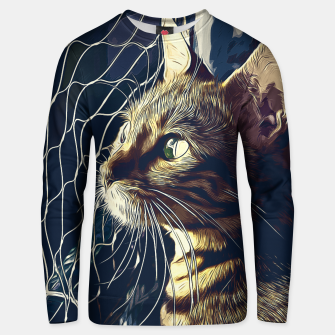 Miniatur gxp bengal cat yearns for freedom vector art foggy night Cotton sweater, Live Heroes