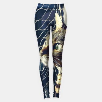Miniatur gxp bengal cat yearns for freedom vector art foggy night Leggings, Live Heroes