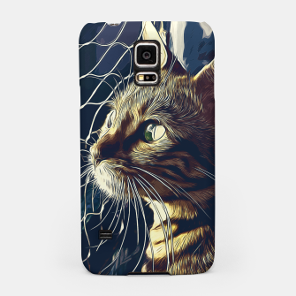 Miniatur gxp bengal cat yearns for freedom vector art foggy night Samsung Case, Live Heroes
