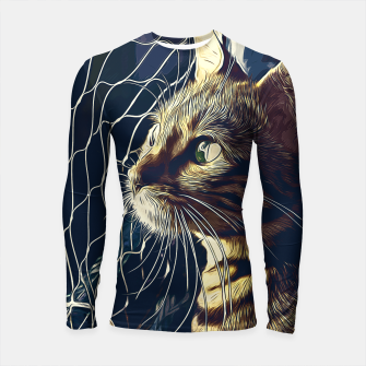 Miniatur gxp bengal cat yearns for freedom vector art foggy night Longsleeve rashguard , Live Heroes
