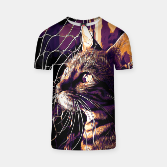 Miniatur gxp bengal cat yearns for freedom vector art late sunset T-shirt, Live Heroes