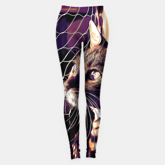 Miniatur gxp bengal cat yearns for freedom vector art late sunset Leggings, Live Heroes