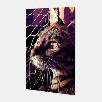 Miniatur gxp bengal cat yearns for freedom vector art late sunset Canvas, Live Heroes