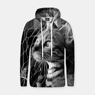 Miniatur gxp bengal cat yearns for freedom vector art black white Cotton hoodie, Live Heroes