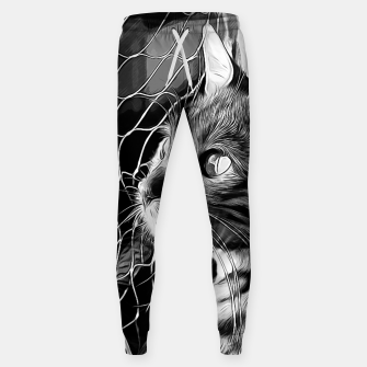 Miniatur gxp bengal cat yearns for freedom vector art black white Cotton sweatpants, Live Heroes