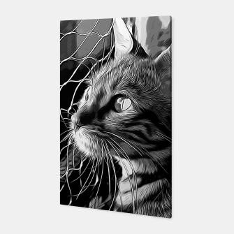 Thumbnail image of gxp bengal cat yearns for freedom vector art black white Canvas, Live Heroes