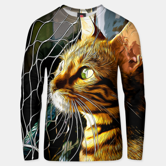 Thumbnail image of gxp bengal cat yearns for freedom vector art Cotton sweater, Live Heroes