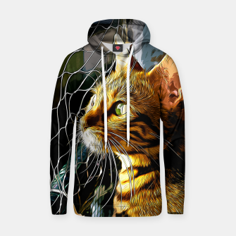 Thumbnail image of gxp bengal cat yearns for freedom vector art Cotton hoodie, Live Heroes