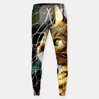 Thumbnail image of gxp bengal cat yearns for freedom vector art Cotton sweatpants, Live Heroes