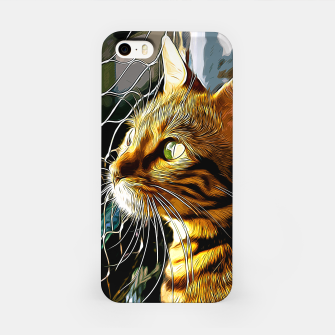 Thumbnail image of gxp bengal cat yearns for freedom vector art iPhone Case, Live Heroes