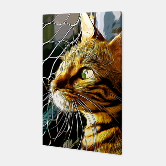 Thumbnail image of gxp bengal cat yearns for freedom vector art Canvas, Live Heroes